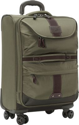 GH Bass & CO Luggage McKinley 21 inch Carry-On Spinner Olive - GH Bass & CO Luggage Softside Carry-On