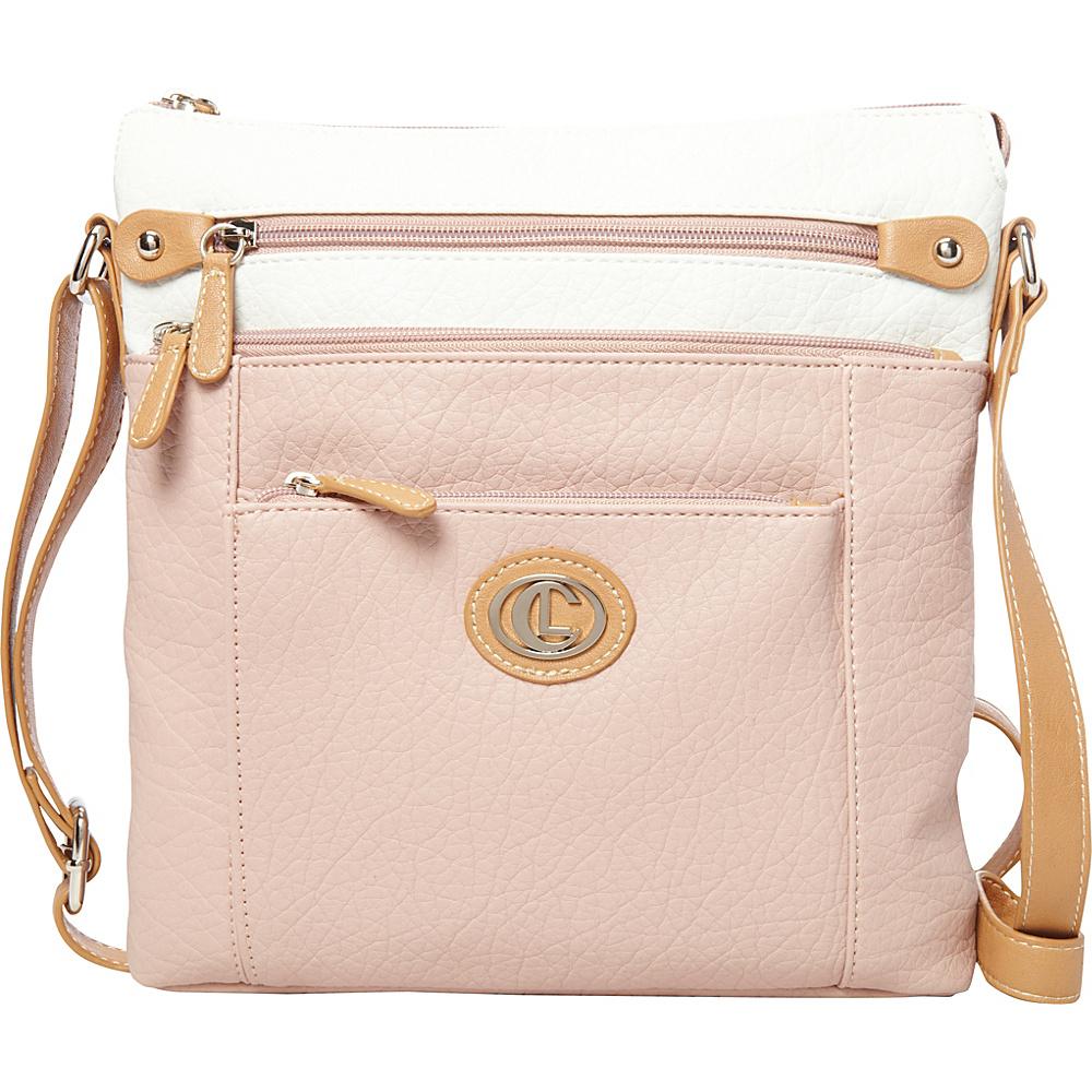 Aurielle Carryland Contempo Pebble Cross Body Blush Aurielle Carryland Manmade Handbags