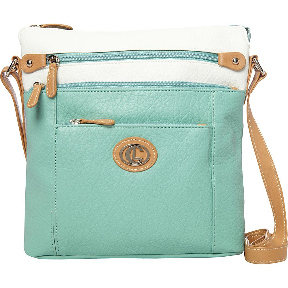 Aurielle Carryland Contempo Pebble Cross Body Mint Aurielle Carryland Manmade Handbags