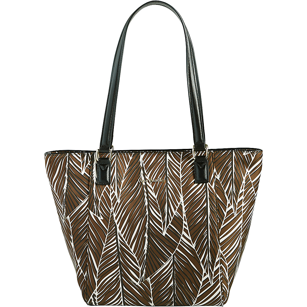 Vera Bradley Small Ella Tote Banana Leaves Brown - Vera Bradley Fabric Handbags - Handbags, Fabric Handbags