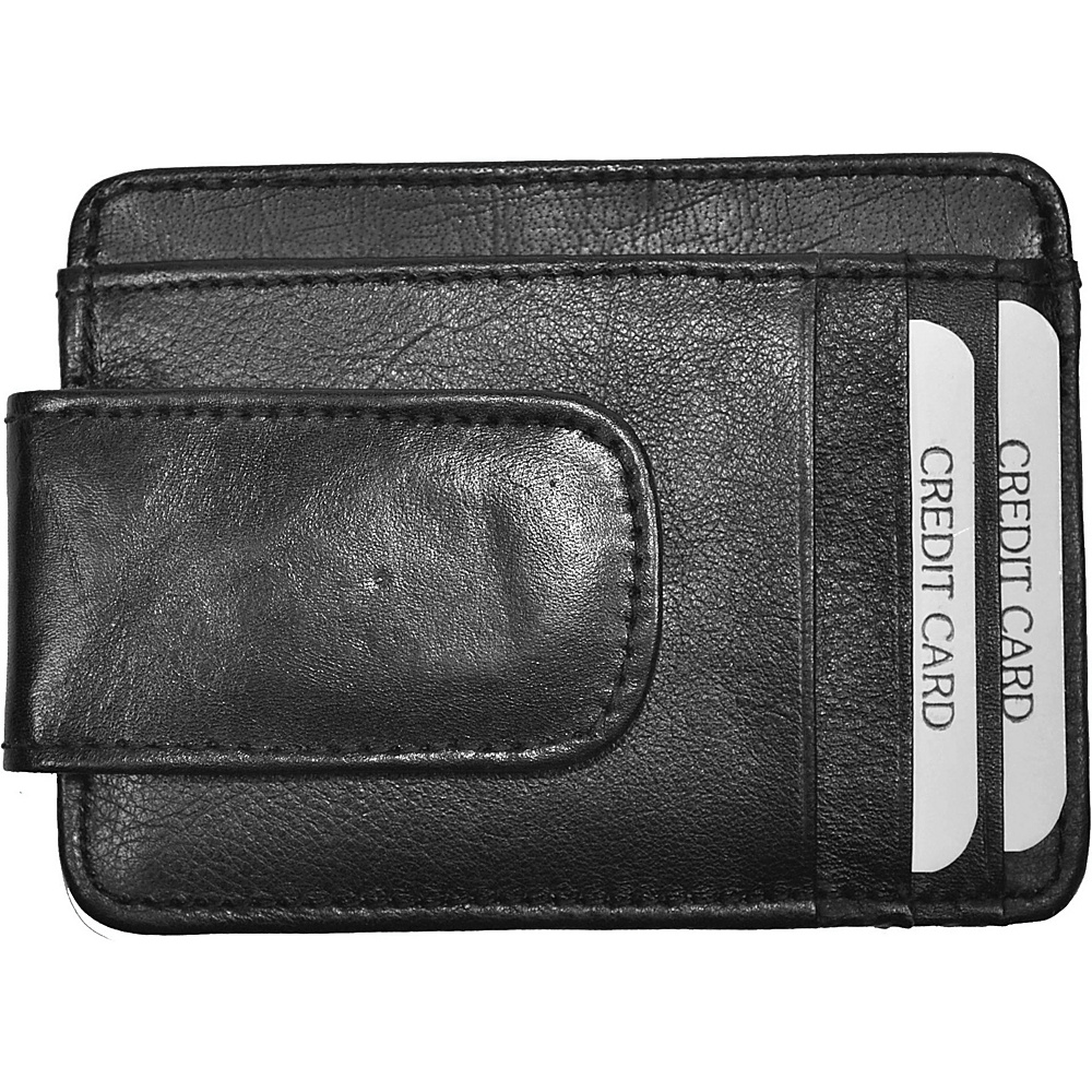 Budd Leather RFID Magnetic Money Clip Black Budd Leather Men s Wallets