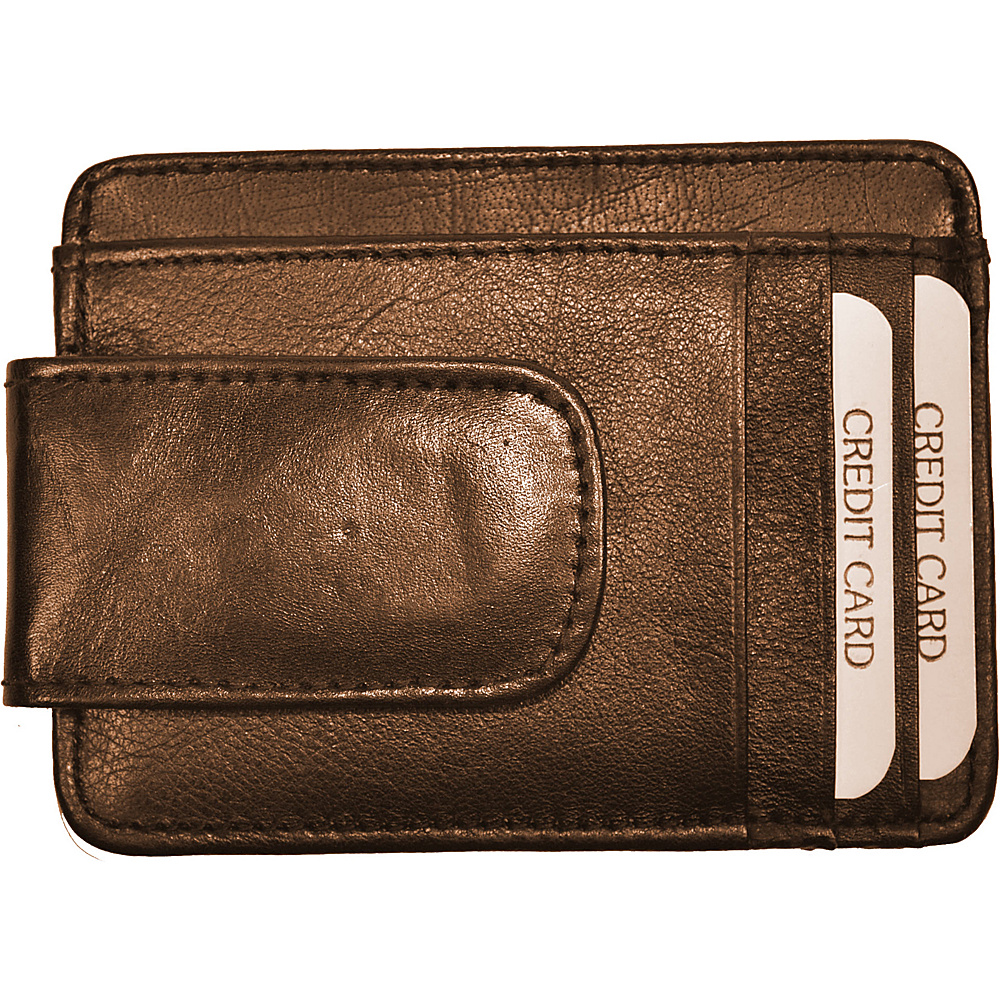 Budd Leather RFID Magnetic Money Clip Brown Budd Leather Men s Wallets