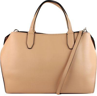 Emilie M Shayna Satchel Fawn/White - Emilie M Manmade Handbags