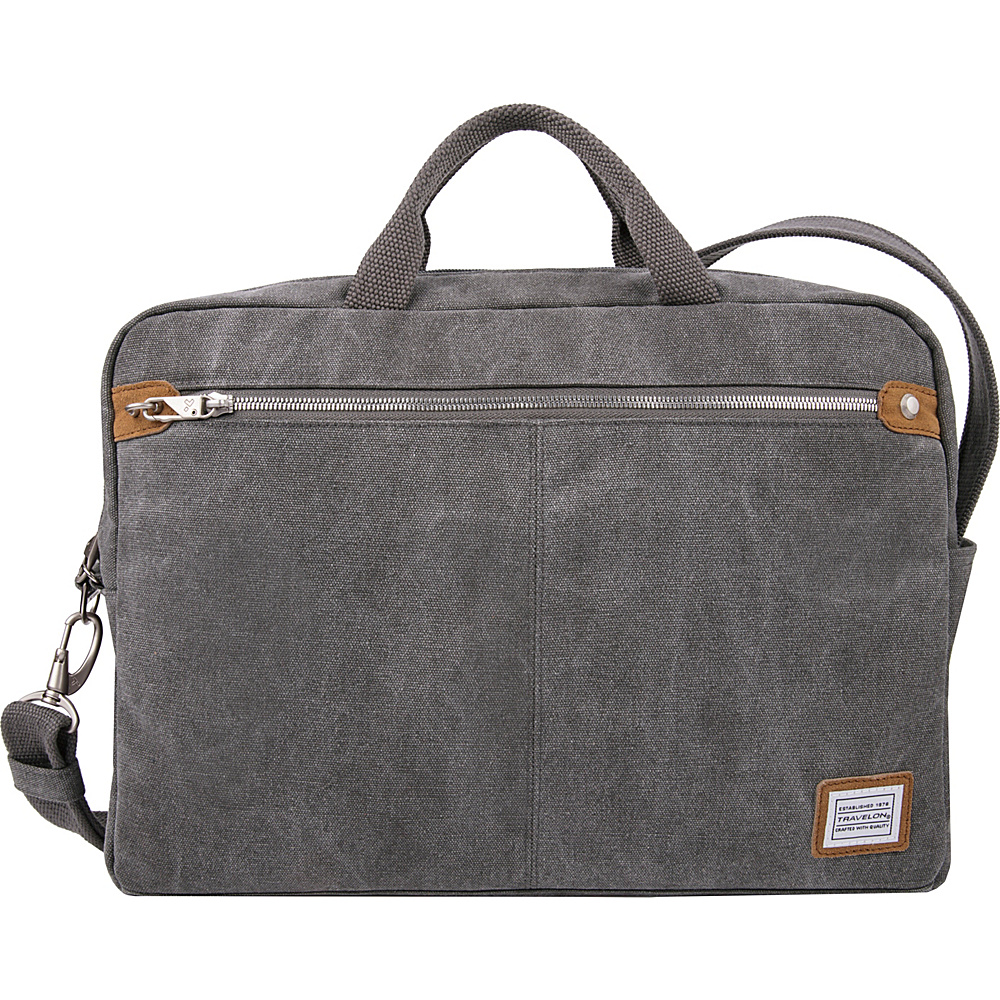 Travelon Anti-Theft Heritage Messenger Bag Pewter - Travelon Messenger Bags - Work Bags & Briefcases, Messenger Bags