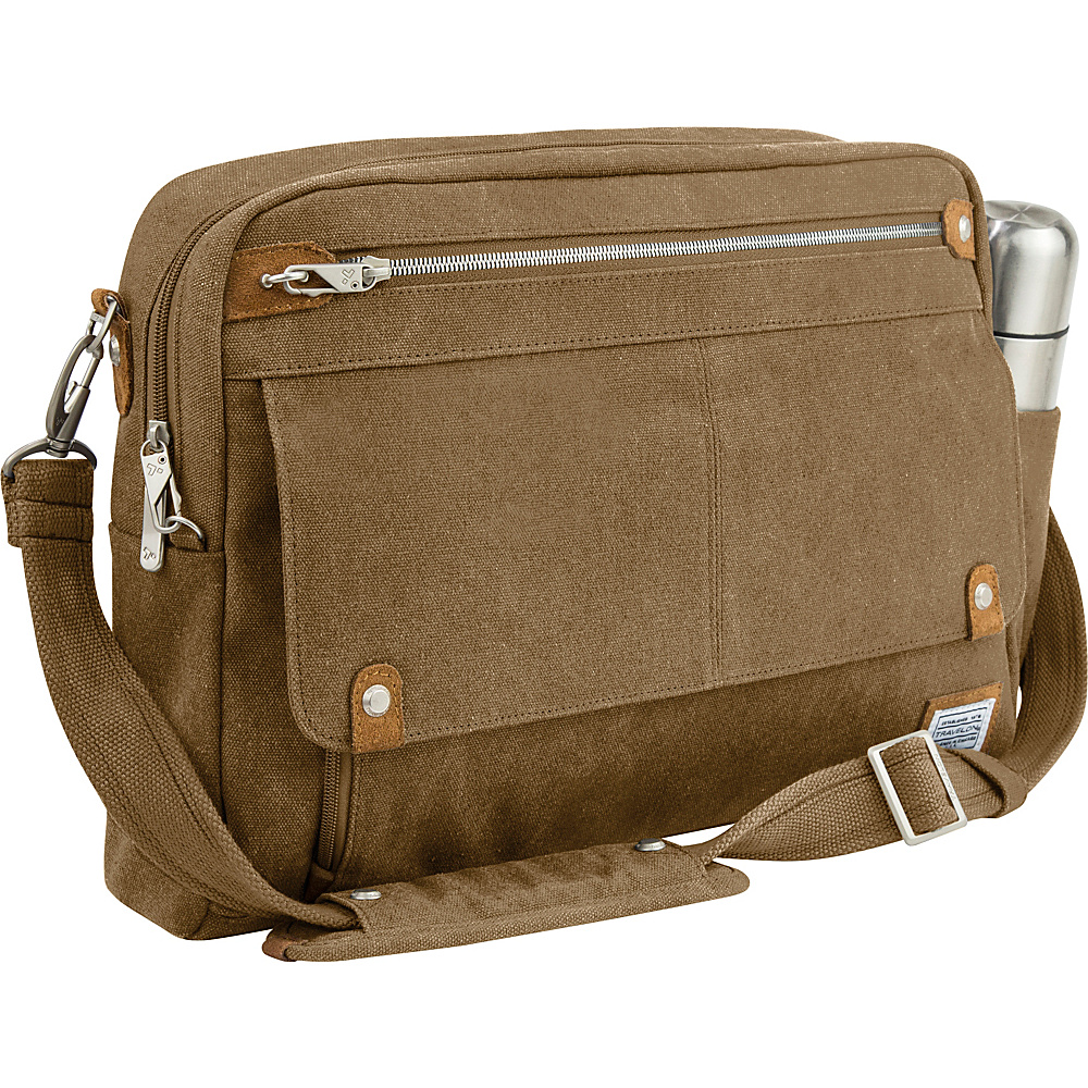 Travelon Anti-Theft Heritage Messenger Bag Oatmeal - Travelon Messenger Bags - Work Bags & Briefcases, Messenger Bags