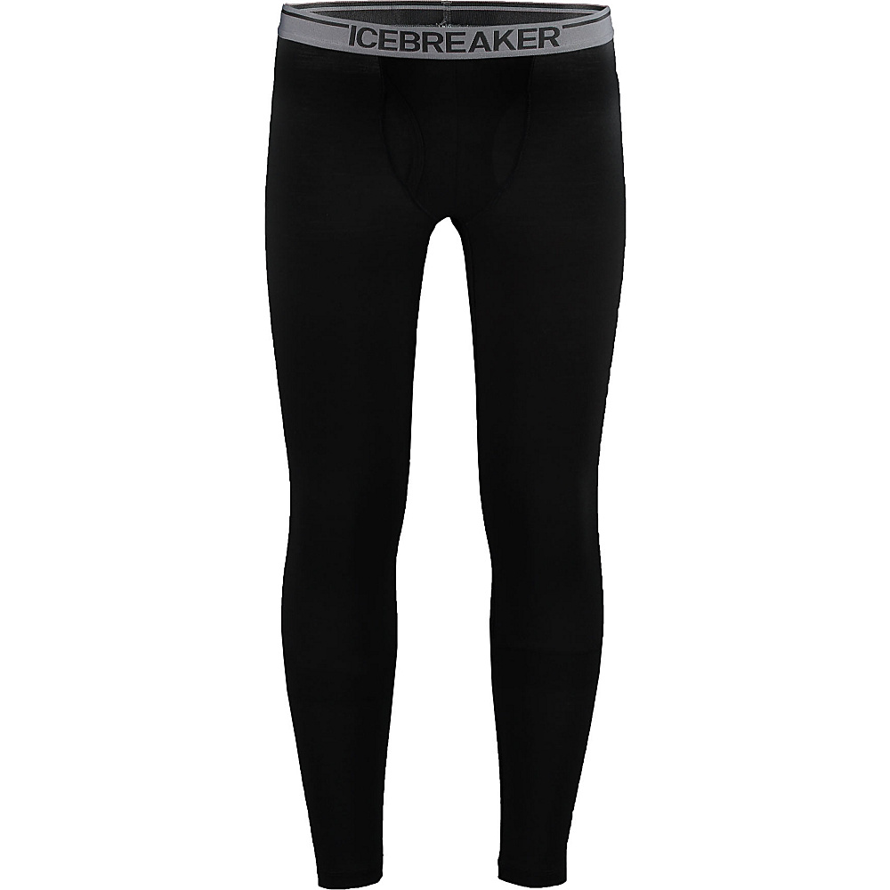 Icebreaker Mens Anatomica Leggings with Fly 2XL - Black - Icebreaker Mens Apparel - Apparel & Footwear, Men's Apparel