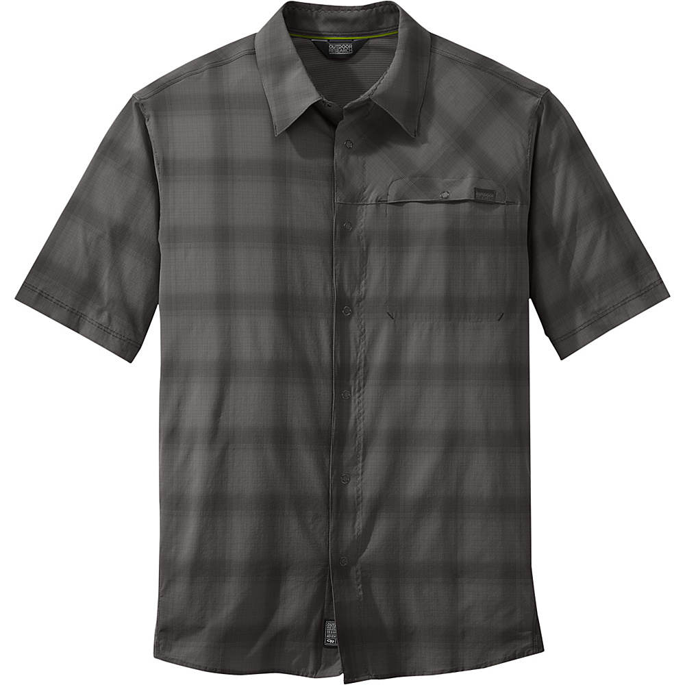 Outdoor Research Mens Astroman Short Sleeve Shirt L - Pewter - Outdoor Research Mens Apparel - Apparel & Footwear, Men's Apparel