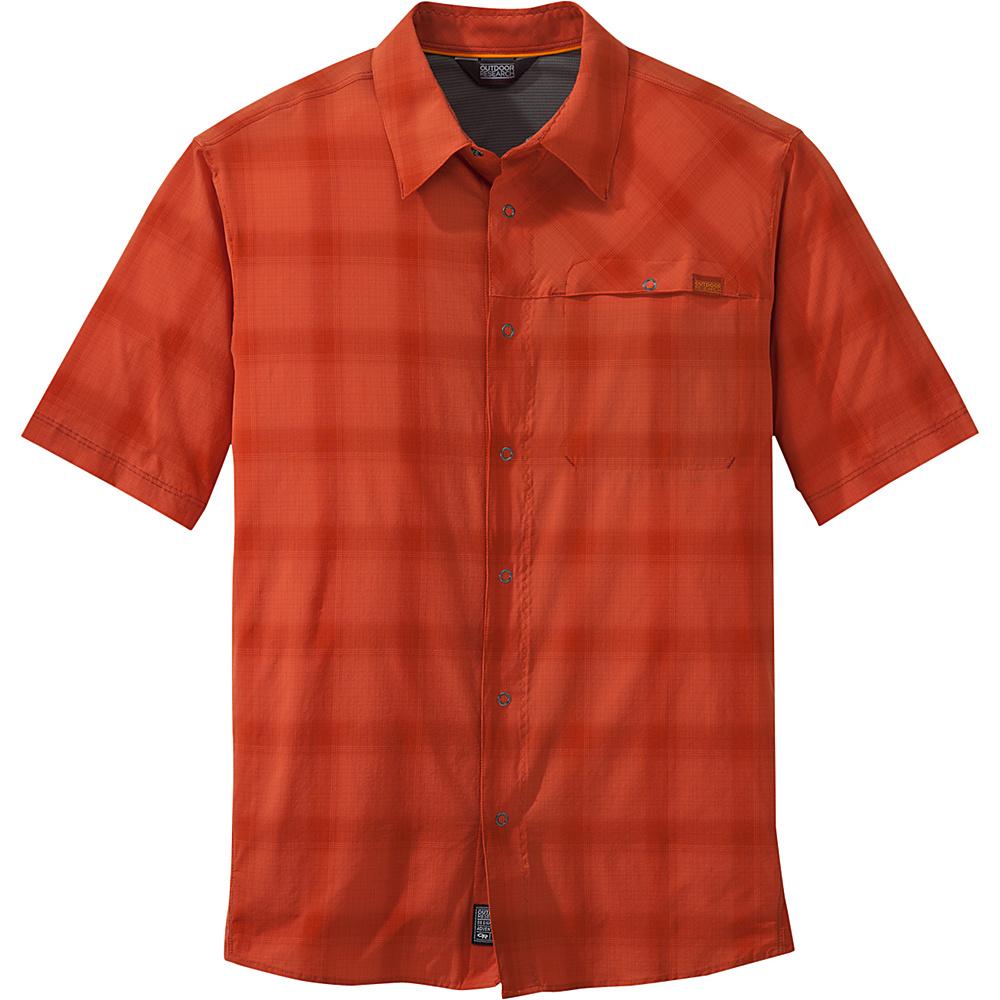 Outdoor Research Mens Astroman Short Sleeve Shirt XL - Diablo - Outdoor Research Mens Apparel - Apparel & Footwear, Men's Apparel