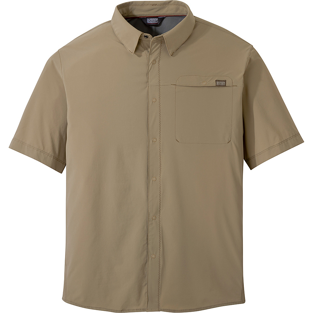 Outdoor Research Mens Astroman Short Sleeve Shirt M - Cafe - Outdoor Research Mens Apparel - Apparel & Footwear, Men's Apparel