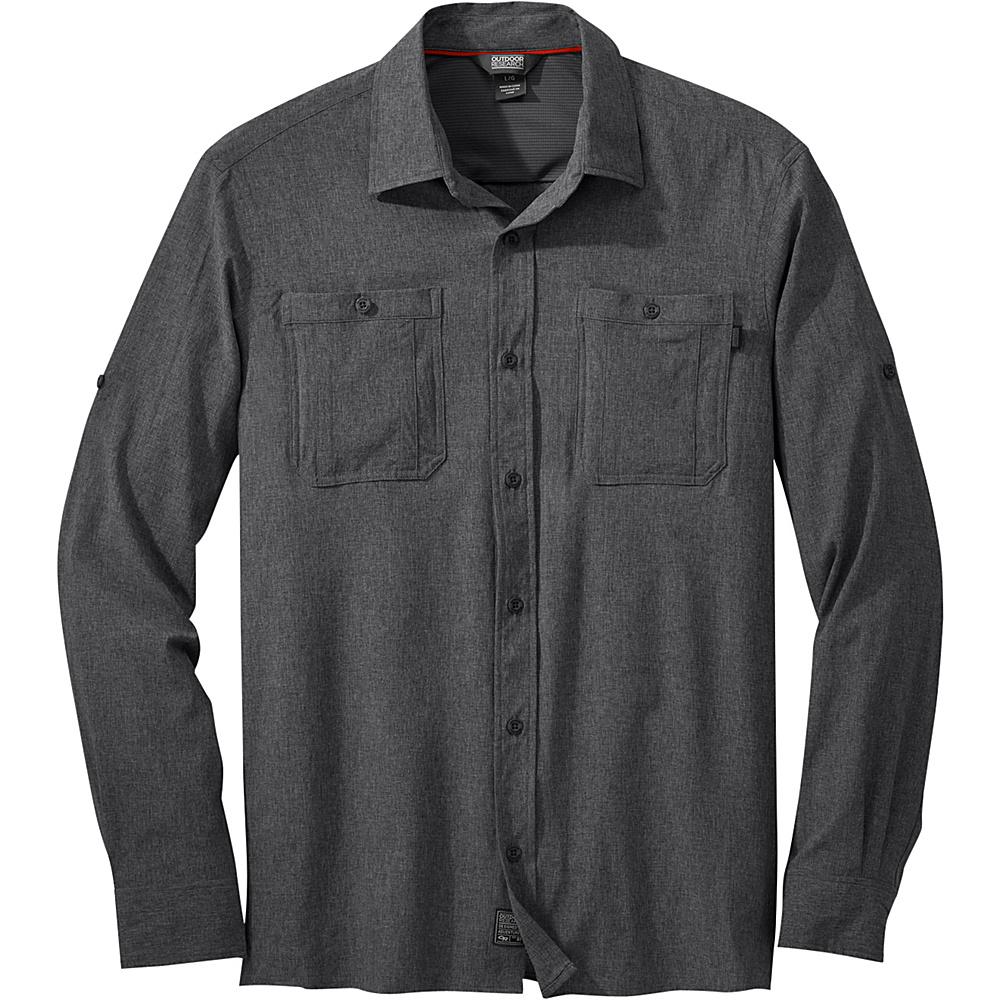 Outdoor Research Mens Wayward Long Sleeve Shirt M - Pewter - Outdoor Research Mens Apparel - Apparel & Footwear, Men's Apparel
