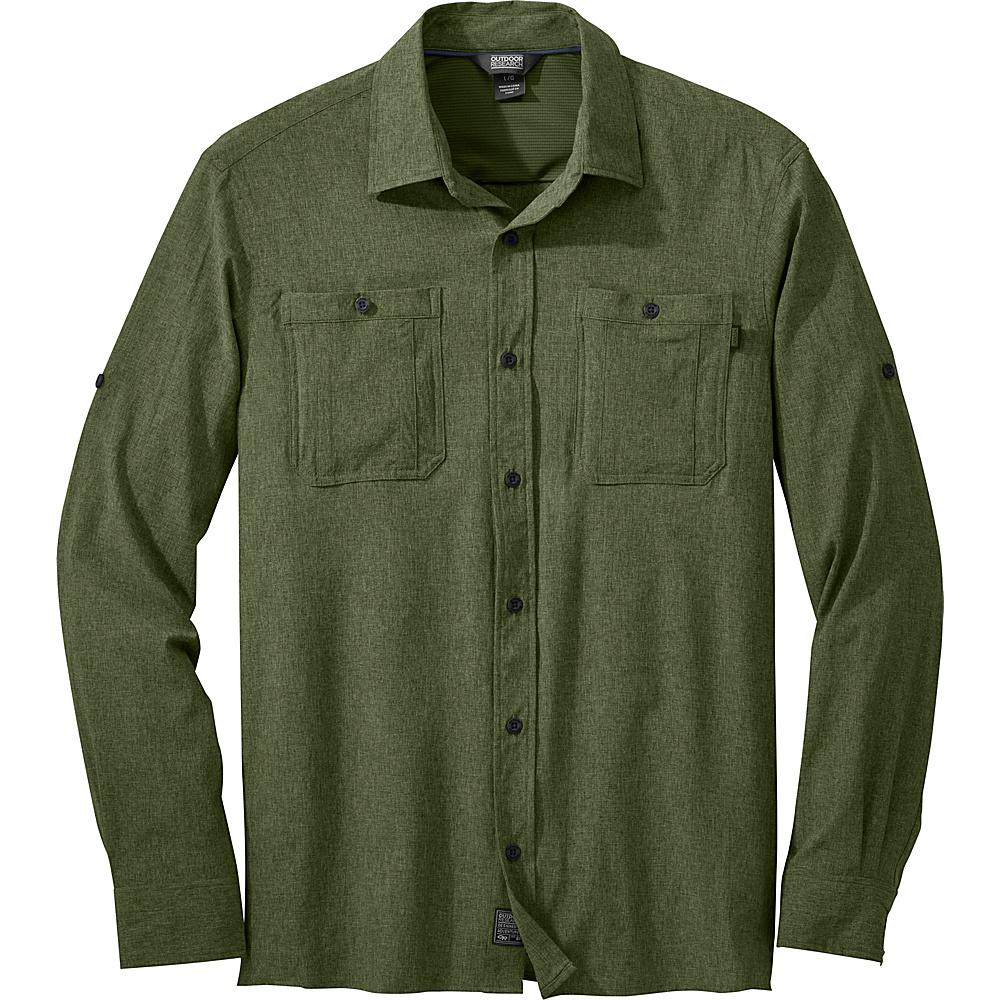 Outdoor Research Mens Wayward Long Sleeve Shirt L - Kale - Outdoor Research Mens Apparel - Apparel & Footwear, Men's Apparel
