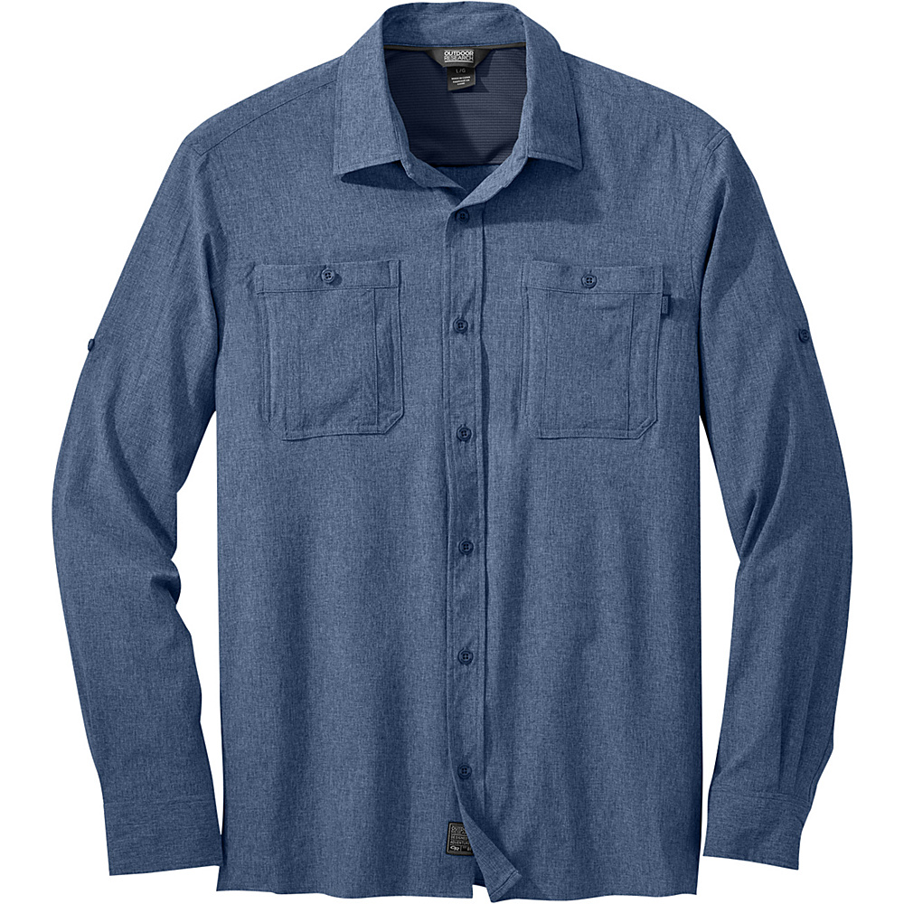 Outdoor Research Mens Wayward Long Sleeve Shirt XL - Dusk - Outdoor Research Mens Apparel - Apparel & Footwear, Men's Apparel