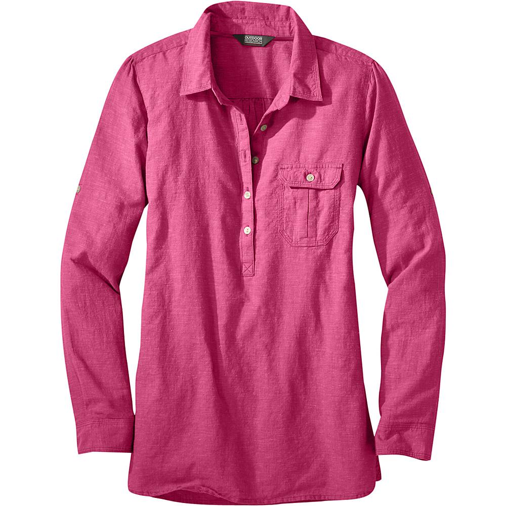 Outdoor Research Womens Coralie Long Sleeve Shirt M - Sangria - Outdoor Research Womens Apparel - Apparel & Footwear, Women's Apparel