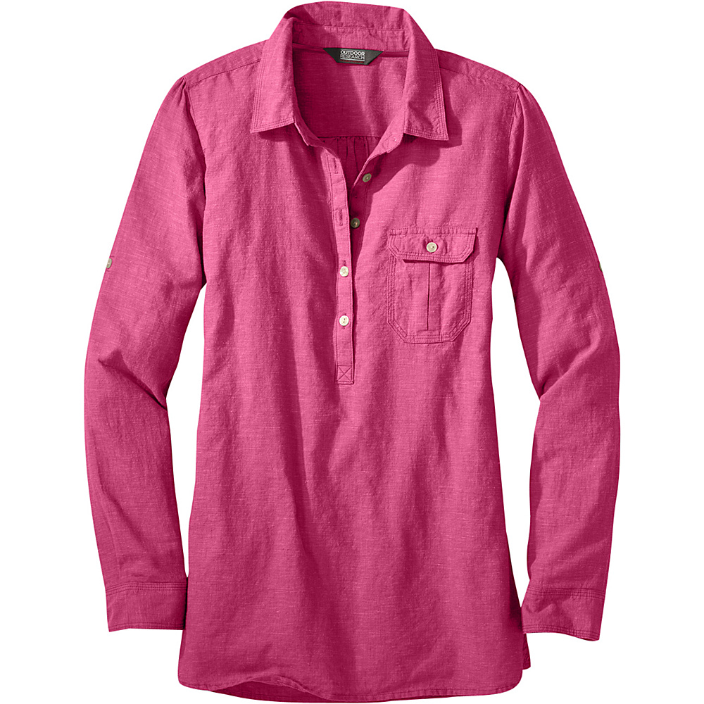 Outdoor Research Womens Coralie Long Sleeve Shirt L - Sangria - Outdoor Research Womens Apparel - Apparel & Footwear, Women's Apparel