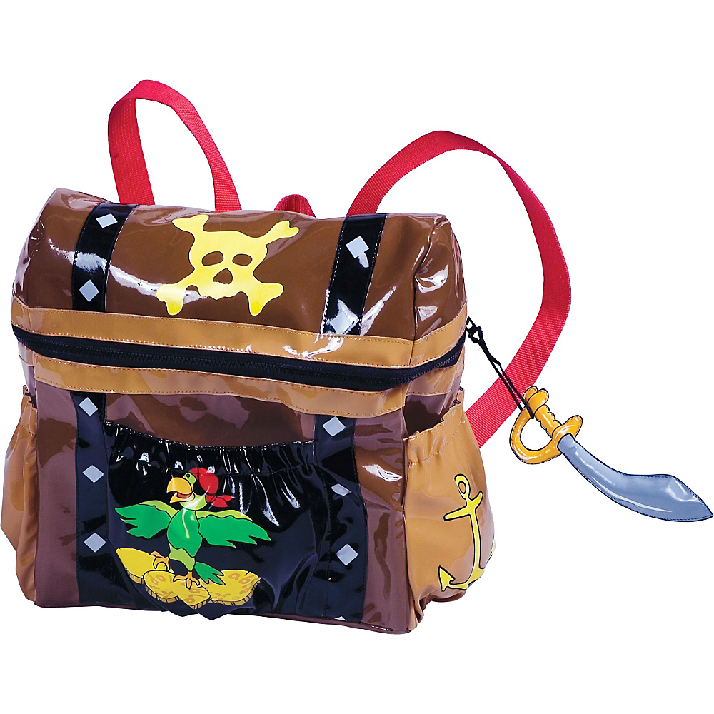 Kidorable Pirate Backpack Brown - One Size - Kidorable Everyday Backpacks - Backpacks, Everyday Backpacks