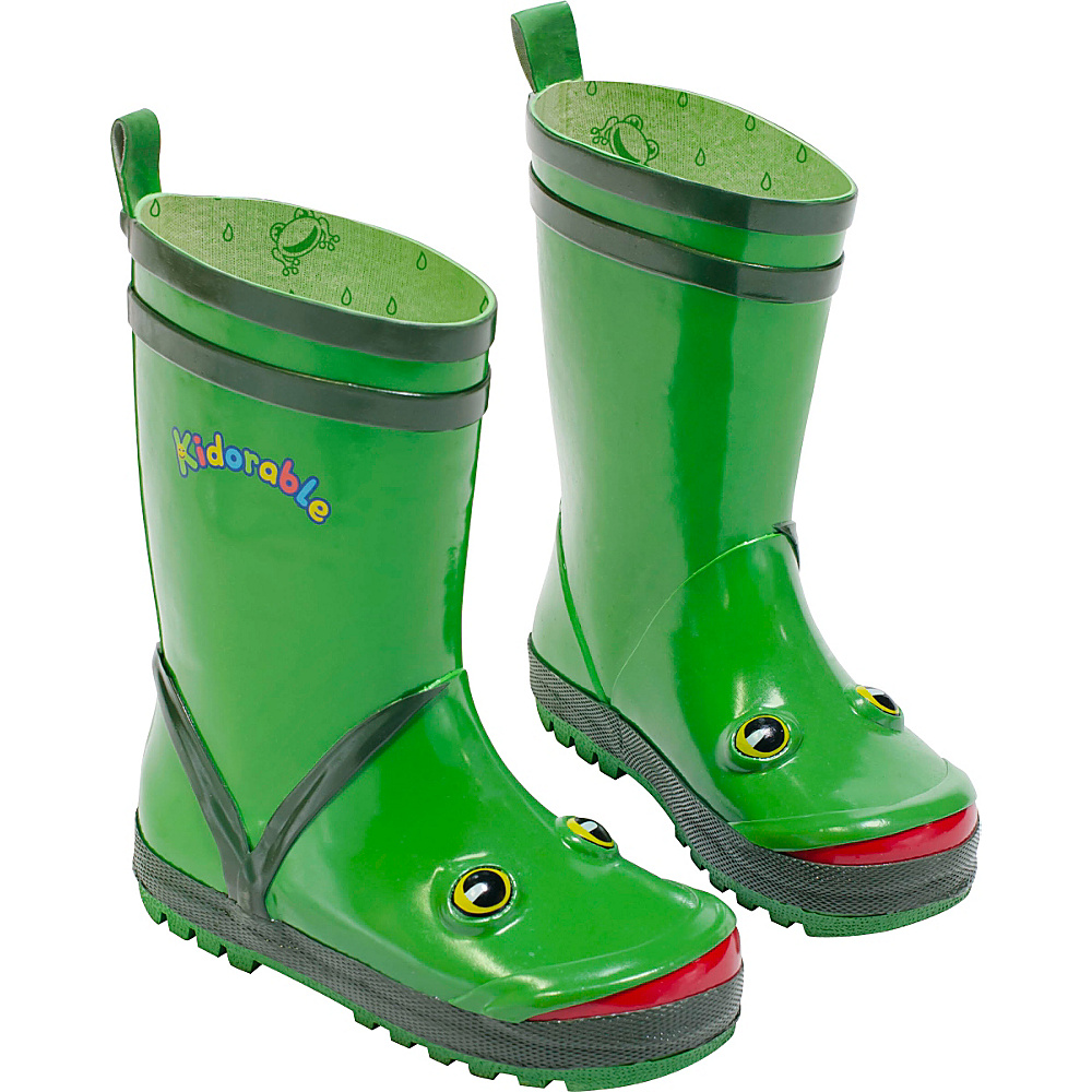 Kidorable Frog Rain Boots 1 (US Kids) - M (Regular/Medium) - Green - Kidorable Mens Footwear - Apparel & Footwear, Men's Footwear