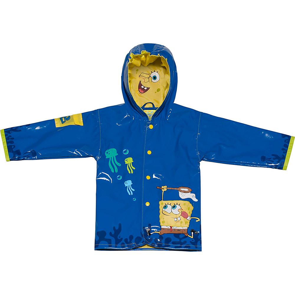 Kidorable SpongeBob All-Weather Raincoat 12-18M - Blue - 1T - Kidorable Mens Apparel - Apparel & Footwear, Men's Apparel