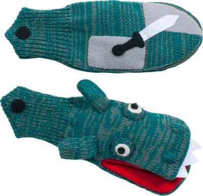 Kidorable Dragon Knight Knit Mittens L - Grey - Kidorable Hats/Gloves/Scarves