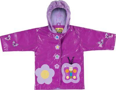 Kidorable Butterfly All-Weather Raincoat 3T - Purple - Ki...