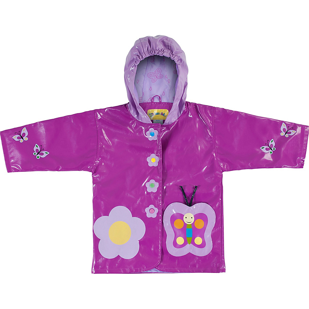 Kidorable Butterfly All-Weather Raincoat 3T - Purple - Kidorable Mens Apparel - Apparel & Footwear, Men's Apparel