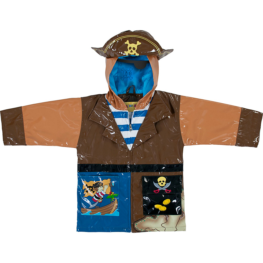 Kidorable Pirate All-Weather Raincoat 3T - Brown - Kidorable Mens Apparel - Apparel & Footwear, Men's Apparel
