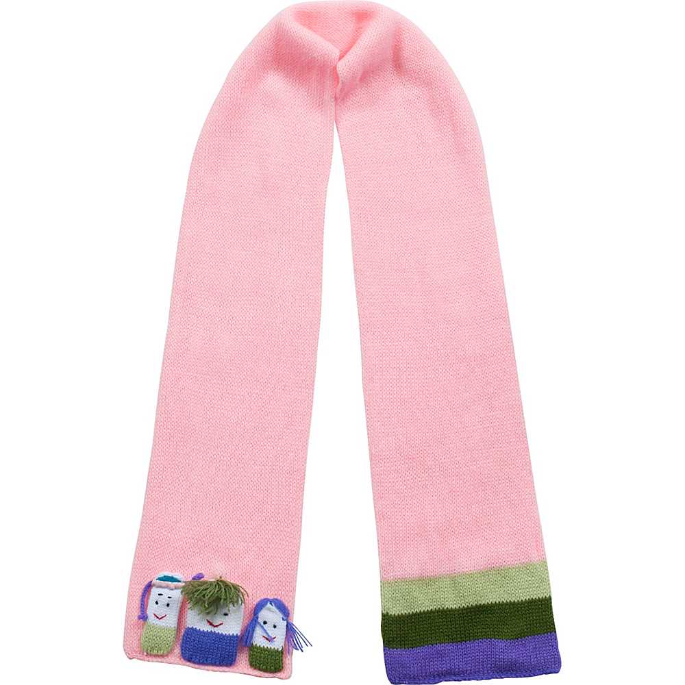 Kidorable Girls Knit Scarf Pink - One Size - Kidorable Hats/Gloves/Scarves