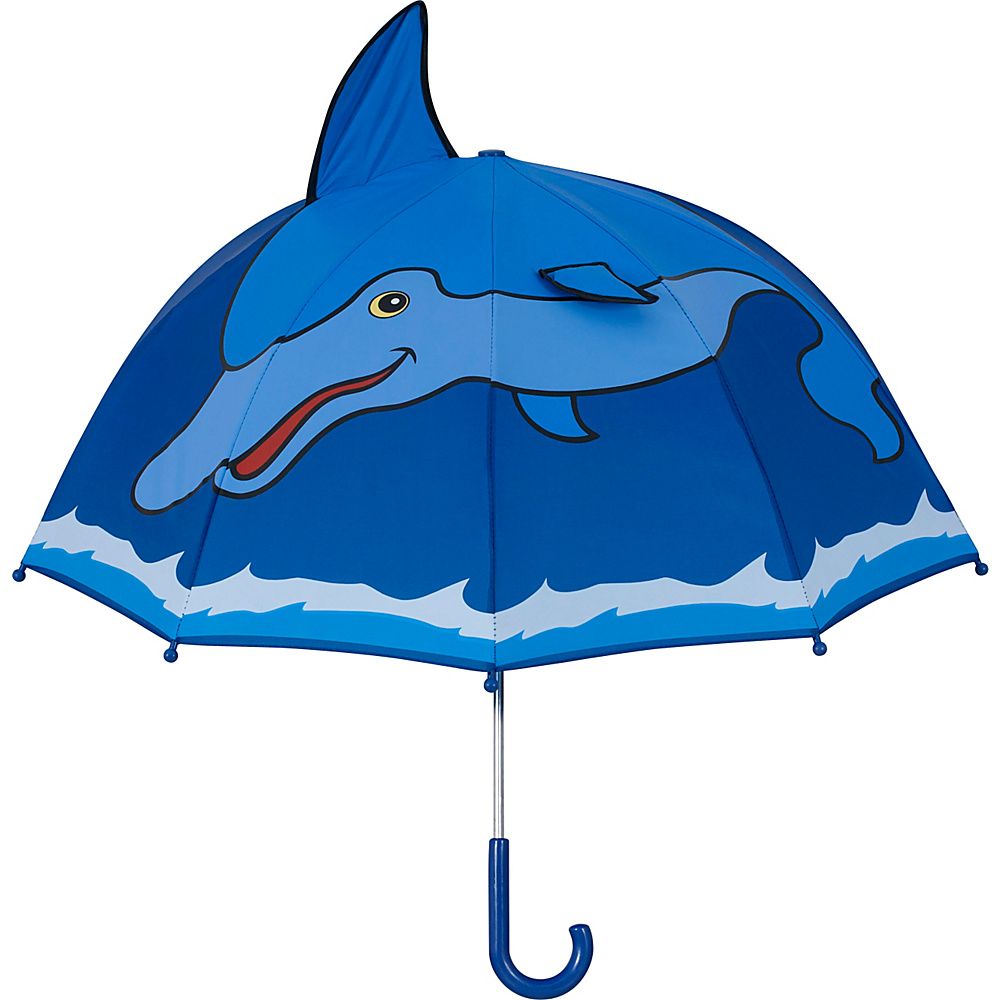 Kidorable Dolphin Umbrella Blue - One Size - Kidorable Umbrellas and Rain Gear - Fashion Accessories, Umbrellas and Rain Gear