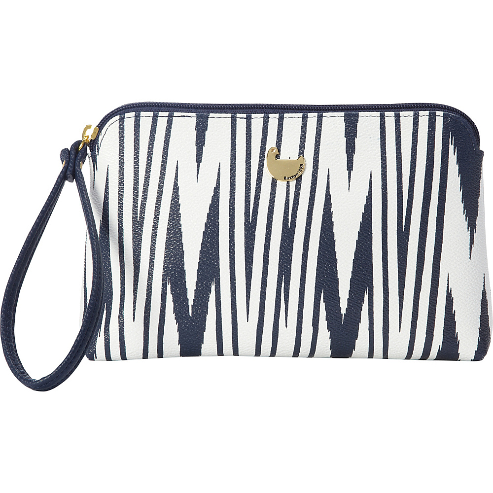 Buxton Chevron Travel Collection Wristlet Pouch Navy - Buxton Manmade Handbags - Handbags, Manmade Handbags
