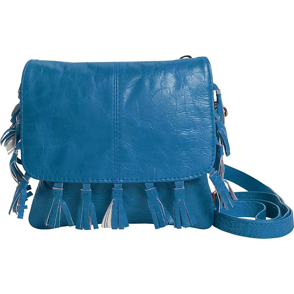 Latico Leathers Vale Crossbody Crinkle Blue - Latico Leathers Leather Handbags - Handbags, Leather Handbags