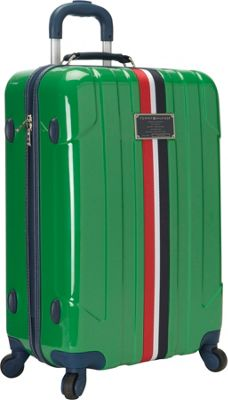 Tommy Hilfiger Luggage Lochwood 25 Hardside Upright Spinner Green - Tommy Hilfiger Luggage Hardside Checked