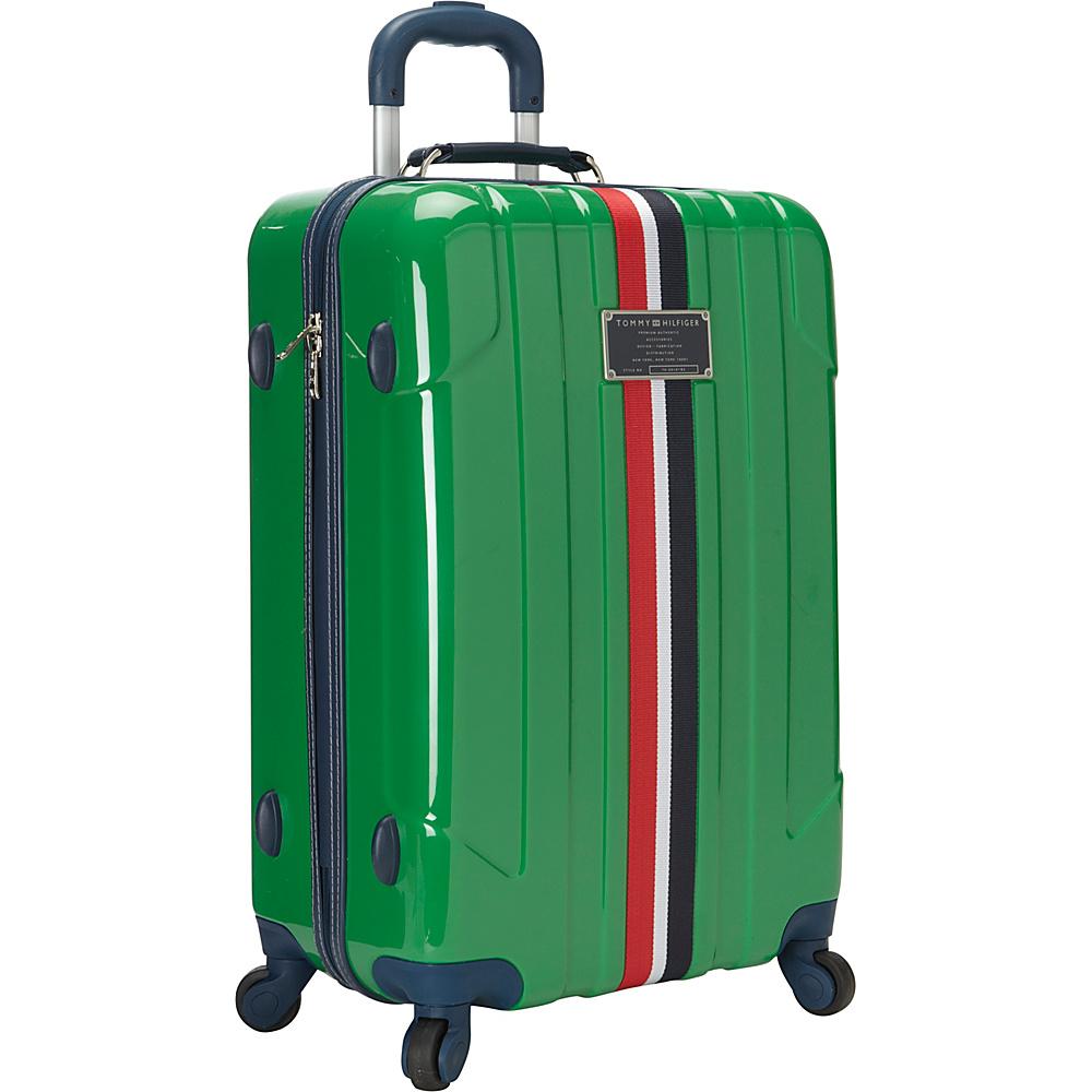 Tommy Hilfiger Luggage Lochwood 25 Hardside Upright Spinner Green Tommy Hilfiger Luggage Hardside Checked
