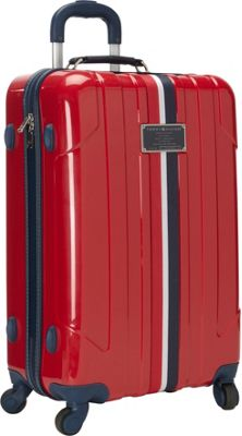 Tommy Hilfiger Luggage Lochwood 25 Hardside Upright Spinner Burgundy - Tommy Hilfiger Luggage Hardside Checked