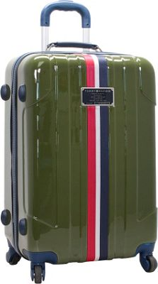 Tommy Hilfiger Luggage Lochwood 25 Hardside Upright Spinner Olive - Tommy Hilfiger Luggage Hardside Checked