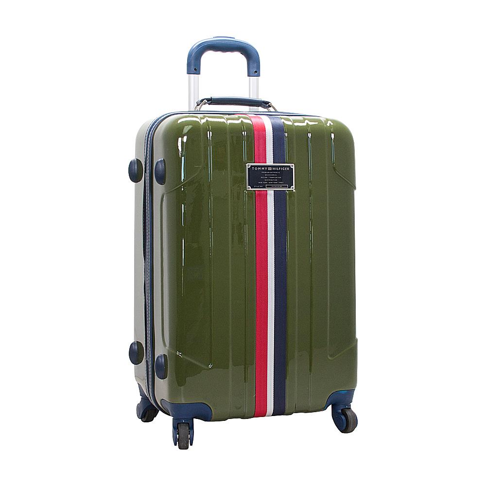 Tommy Hilfiger Luggage Lochwood 25 Hardside Upright Spinner Olive Tommy Hilfiger Luggage Hardside Checked