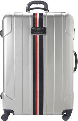 Tommy Hilfiger Luggage Lochwood 25 Hardside Upright Spinner Silver - Tommy Hilfiger Luggage Hardside Checked