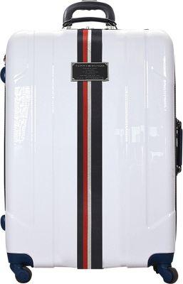 Tommy Hilfiger Luggage Lochwood 25 Hardside Upright Spinner White - Tommy Hilfiger Luggage Hardside Checked