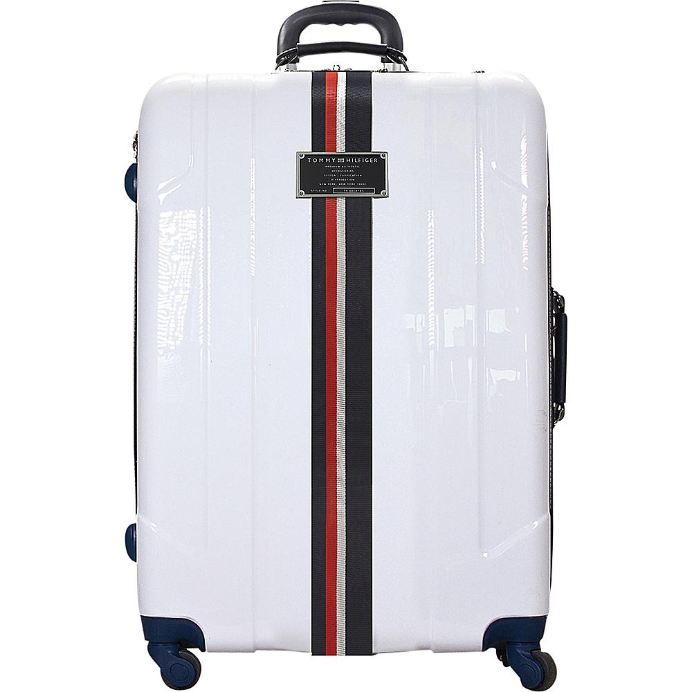 Tommy Hilfiger Luggage Lochwood 25 Hardside Upright Spinner White Tommy Hilfiger Luggage Hardside Checked