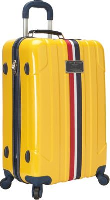 Tommy Hilfiger Luggage Lochwood 25 Hardside Upright Spinner Yellow - Tommy Hilfiger Luggage Hardside Checked