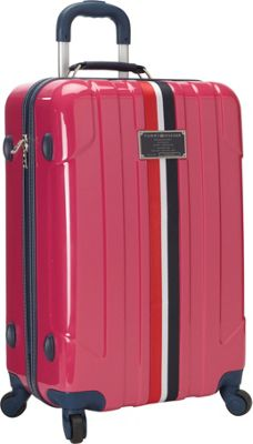 Tommy Hilfiger Luggage Lochwood 25 Hardside Upright Spinner Pink - Tommy Hilfiger Luggage Hardside Checked