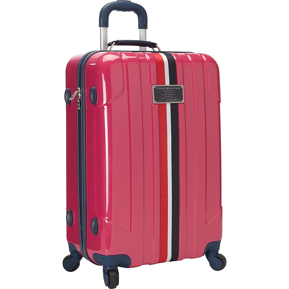 Tommy Hilfiger Luggage Lochwood 25 Hardside Upright Spinner Pink Tommy Hilfiger Luggage Hardside Checked