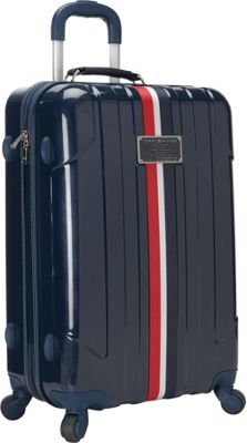 Tommy Hilfiger Luggage Lochwood 25 Hardside Upright Spinner Navy - Tommy Hilfiger Luggage Hardside Checked