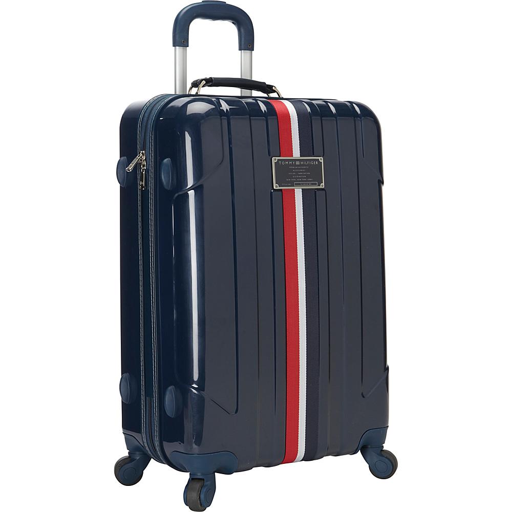 Tommy Hilfiger Luggage Lochwood 25 Hardside Upright Spinner Navy Tommy Hilfiger Luggage Hardside Checked