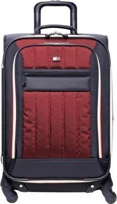 Tommy Hilfiger Luggage Classic Sport 21 inch Exp. Carry-On Navy/Burgundy - Tommy Hilfiger Luggage Softside Carry-On