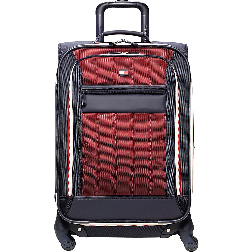 Tommy Hilfiger Luggage Classic Sport 21 Exp. Carry On Navy Burgundy Tommy Hilfiger Luggage Softside Carry On