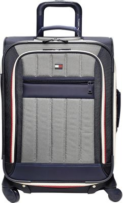 Tommy Hilfiger Luggage Classic Sport 21 inch Exp. Carry-On Navy/Grey - Tommy Hilfiger Luggage Softside Carry-On