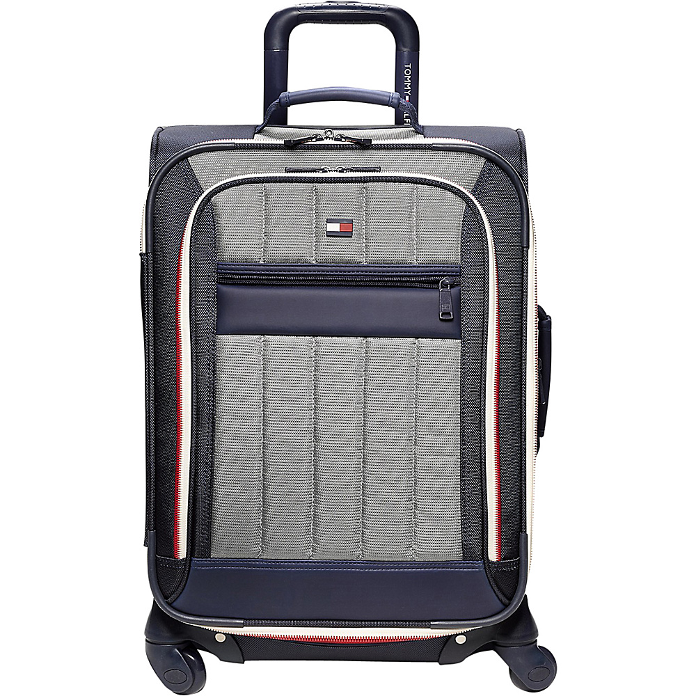 Tommy Hilfiger Luggage Classic Sport 21 Exp. Carry On Navy Grey Tommy Hilfiger Luggage Softside Carry On