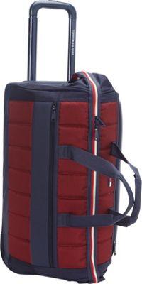 Tommy Hilfiger Luggage Classic Sport 22 inch Wheeled Duffle Navy/Burgundy - Tommy Hilfiger Luggage Rolling Duffels