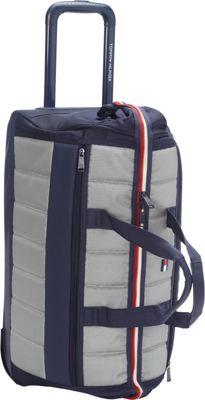 Tommy Hilfiger Luggage Classic Sport 22 inch Wheeled Duffle Navy/Grey - Tommy Hilfiger Luggage Rolling Duffels