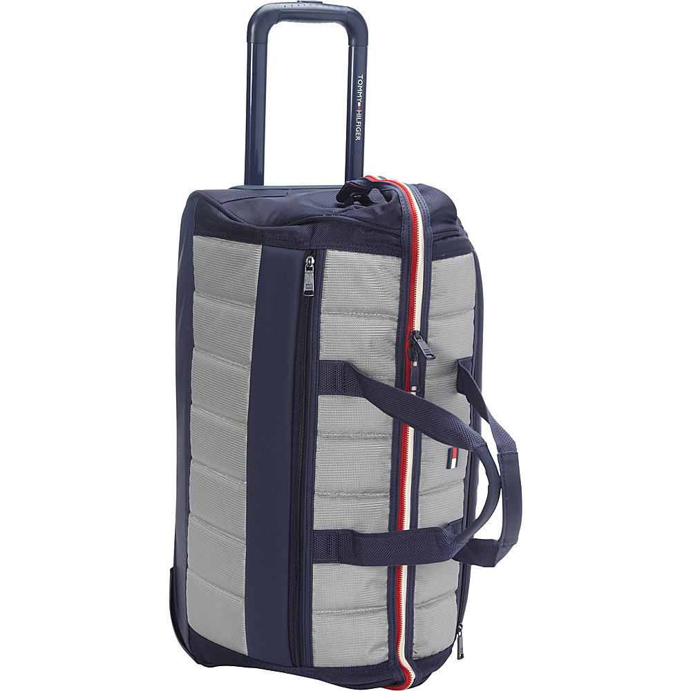 Tommy Hilfiger Luggage Classic Sport 22 Wheeled Duffle Navy Grey Tommy Hilfiger Luggage Rolling Duffels