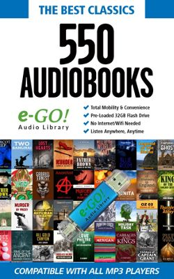 e-Go! Portable Library 550 Classic AudioBooks blue - e-Go! Portable Library Electronic Accessories